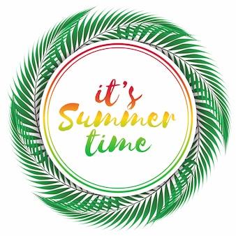 Heure d'été sur fond blanc.