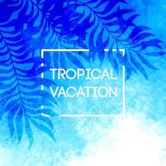 Heure d'été. illustration de feuilles de palmier tropical