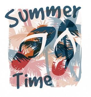 L'heure d'été avec tongs