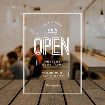 Heures d'ouverture de l'entreprise avec photo