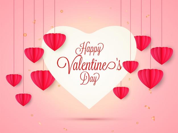 Heureuse conception de carte de voeux saint valentin