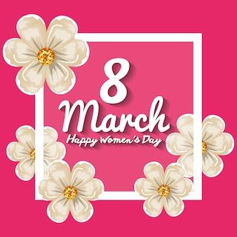 Heureuse décoration de la journée des femmes