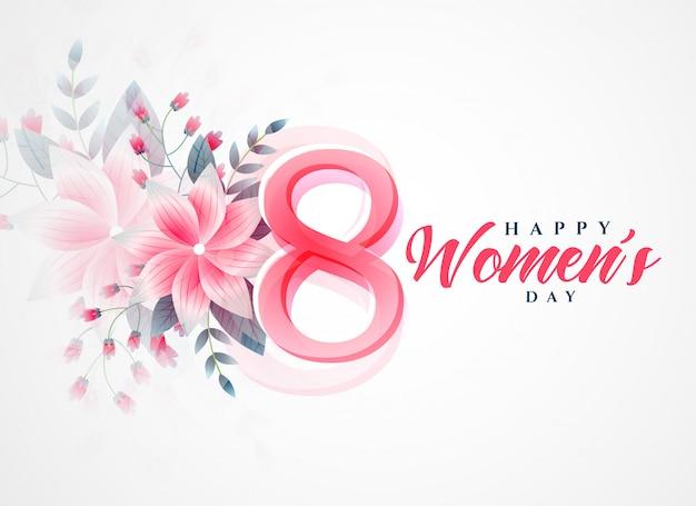 Heureuse fête des femmes belle salutation