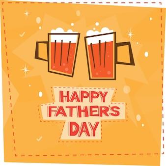 Heureuse fête des pères en famille, carte de voeux