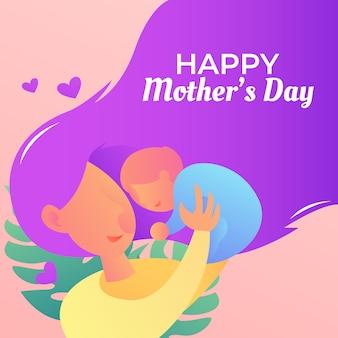 Heureuse illustration de la fête des mères