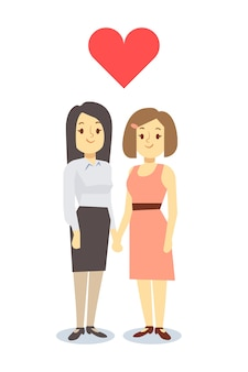 Heureuse paire de femmes lgbt gay dans l'amour