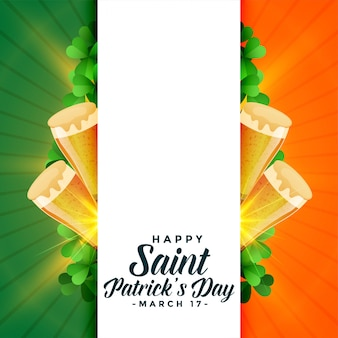Heureuse saint patrick's day background