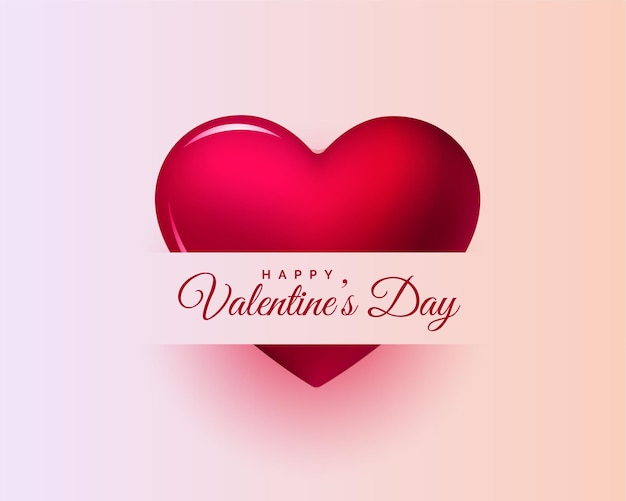 Heureuse saint valentin beau fond de conception de carte