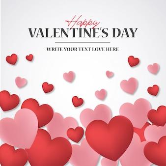 Heureuse saint valentin fond avec des coeurs