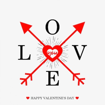 Heureuse saint valentin fond typographique