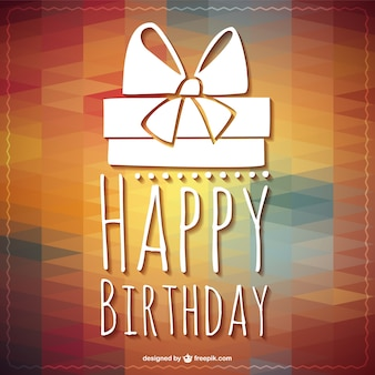 Heureux anniversaire modèle de cadeau de lettrage