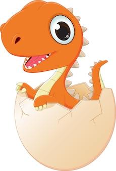 Heureux bébé dinosaure éclosion