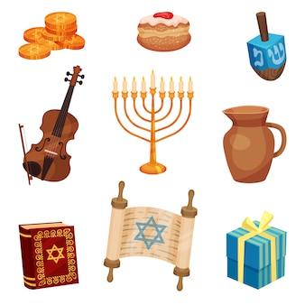 Heureux concept de hanoukka. traditions et culture juives.