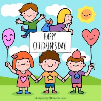 Heureux les enfants qui jouent ensemble