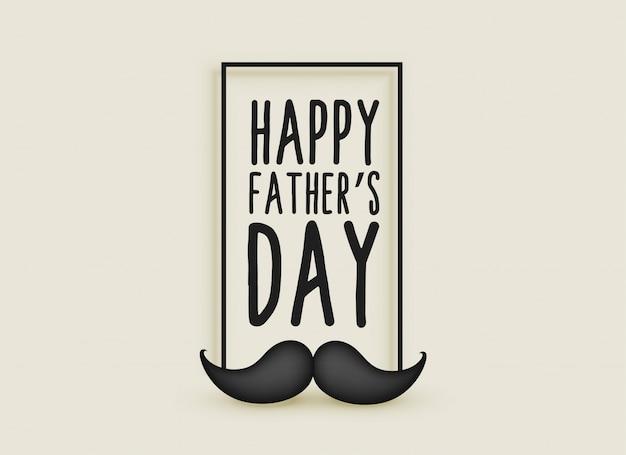 Heureux fête des pères moustache hipster fond
