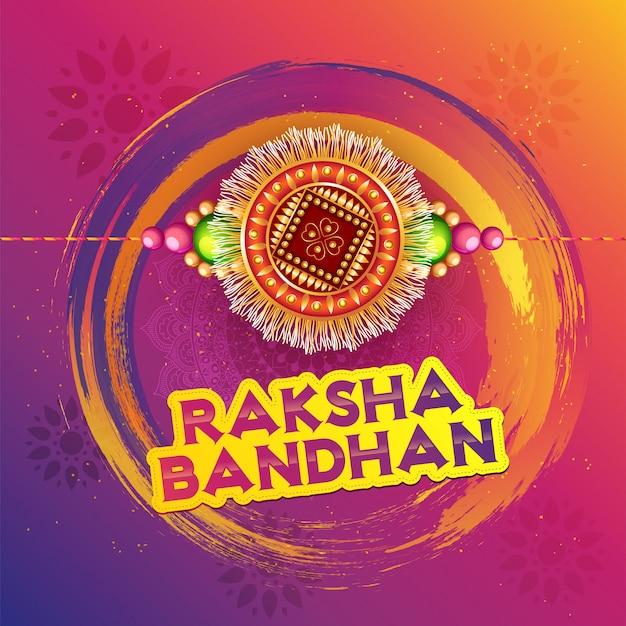 Heureux fond de célébration raksha bandhan.