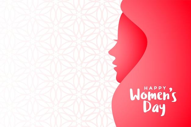 Heureux fond d'événement de la journée des femmes avec espace de texte