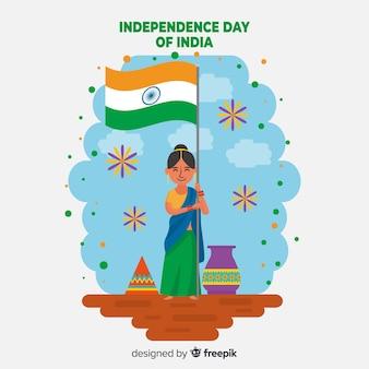 Heureux fond de fête de l'indépendance indienne