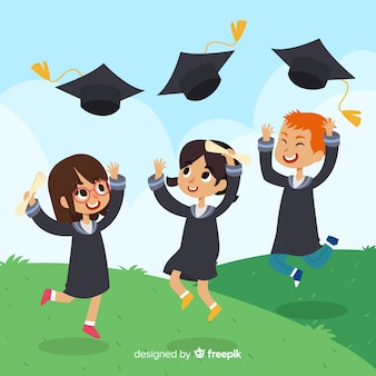Heureux fond de graduation