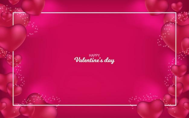 Heureux fond de saint valentin avec coeurs