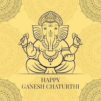 Heureux ganesh chaturthi illustration
