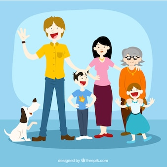 Heureux illustration de la famille