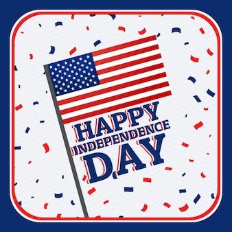 Heureux indépendance jour fond avec des confettis