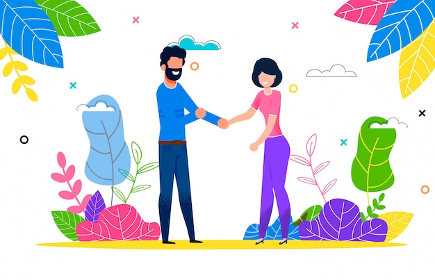 Heureux jeune couple amoureux homme et femme sur une promenade