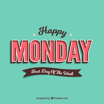 Heureux lundi, style rétro