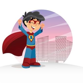 Heureux super boy