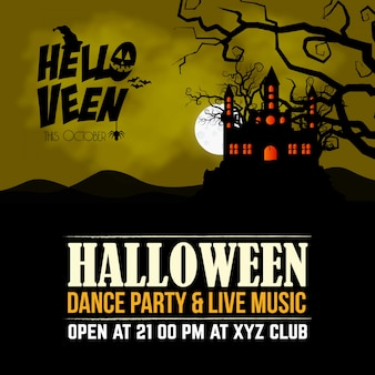 Heureux vecteur de conception de bannières invitation halloween