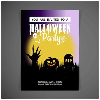 Heureux vecteur de conception de carte invitation halloween