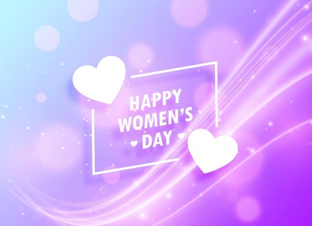 Heureux womans jour salutation conception de fond pour le 8 mars