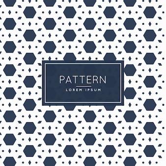 Hexagonale abstraite et le motif en forme de losange