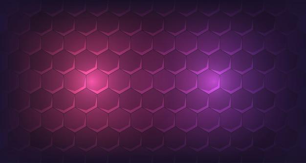 Hexagone 3d avec lueur led