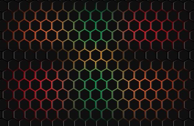 Hexagone abstrait coloré
