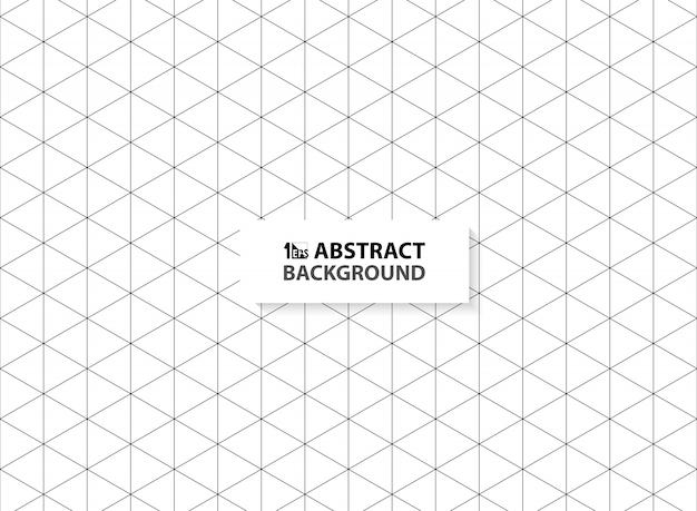 Hexagone abstrait décrit l'arrière-plan de couleur noire.