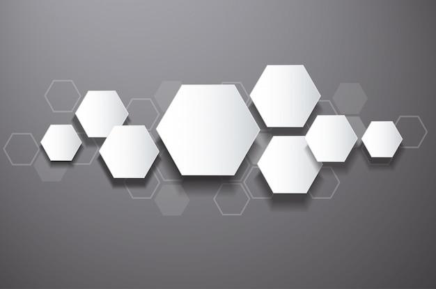 Hexagone abstrait et fond de l'espace