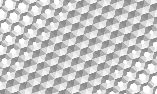 Hexagone abstrait. surface en nid d'abeille 3d.