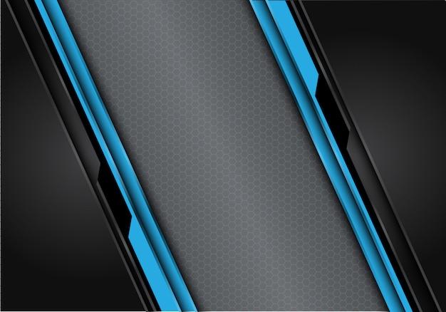 Hexagone bleu maille fond de circuit polygone noir gris.