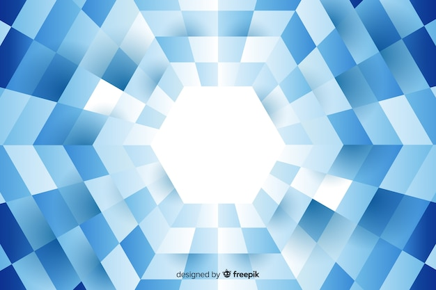 Hexagone formé par un fond de rectangles alignés
