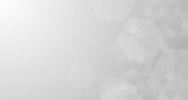 Hexagone gris abstrait ou fond de technologie numérique. conception vectorielle pour la science et la médecine.