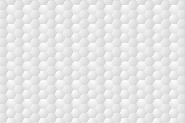 Hexagone en relief, fond blanc en nid d'abeille