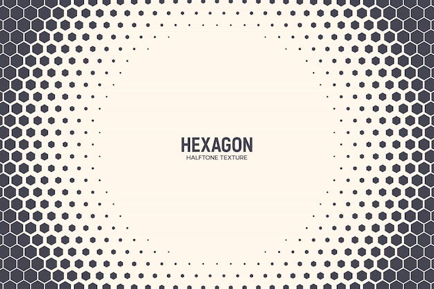 Hexagones abstrait technologie