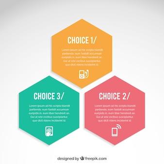 Hexagones infographiques