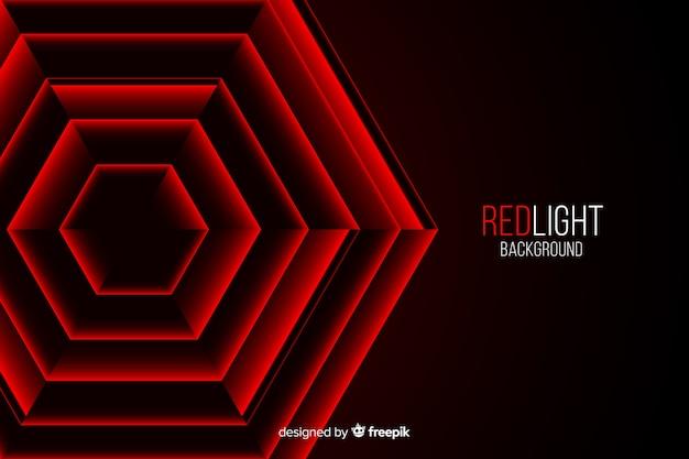 Hexagones lumières rouges placées les unes dans les autres