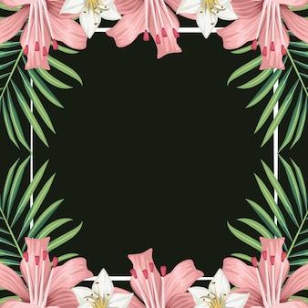 Hibiscus fleurs exotiques décoration feuilles tropicales