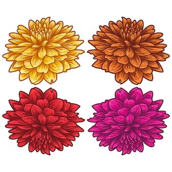 Hibiscus floral d'été dessiné à la main