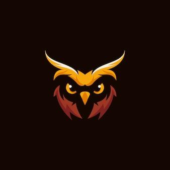 Hibou logo vecteur