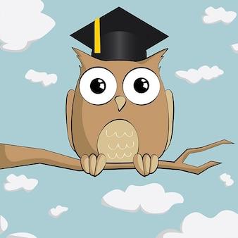 Hibou mignon diplômé